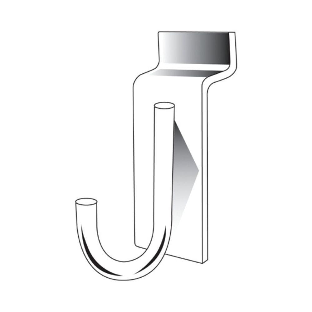 Chrome Slatwall J Hook