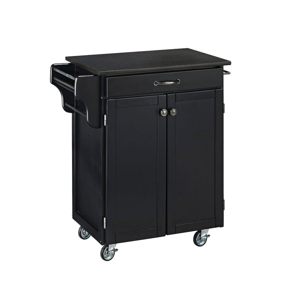 Portable Kitchen: Small Black Portable Kitchen Island