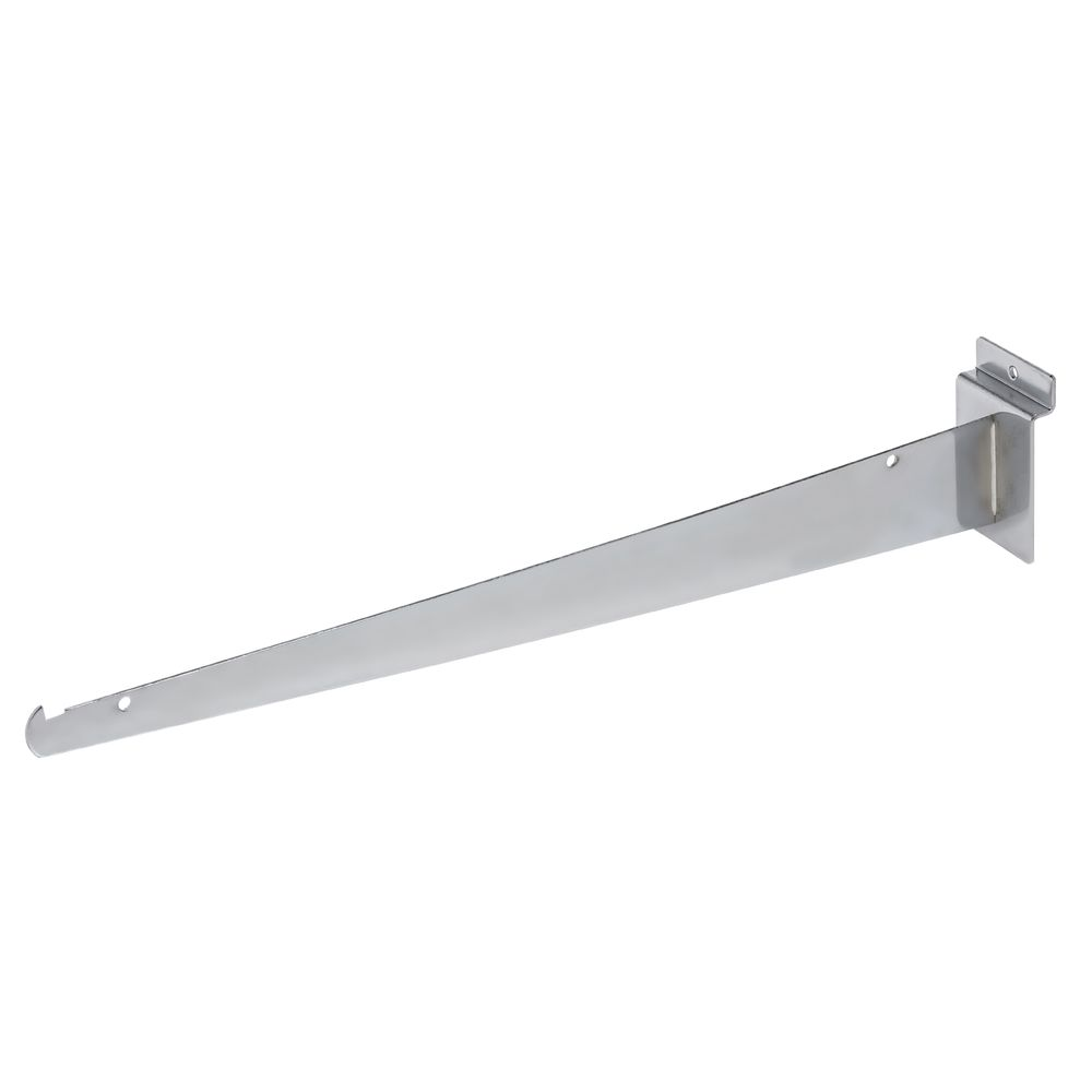 "BRACKET, SHELF, SLATWALL, 16"", CHROME"