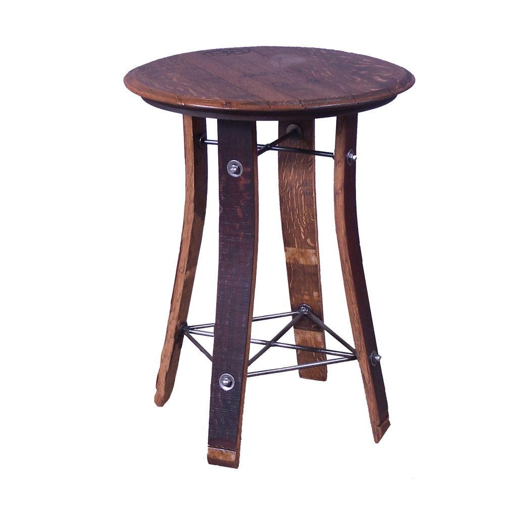 Wine Barrel Round Display Table