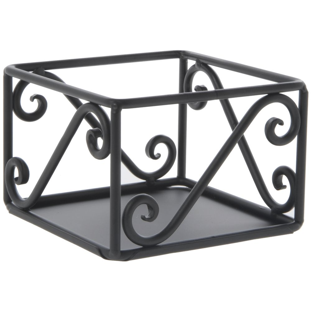 "RISER CUBE, BLK.SCROLL STEEL, 6X6X4""H"