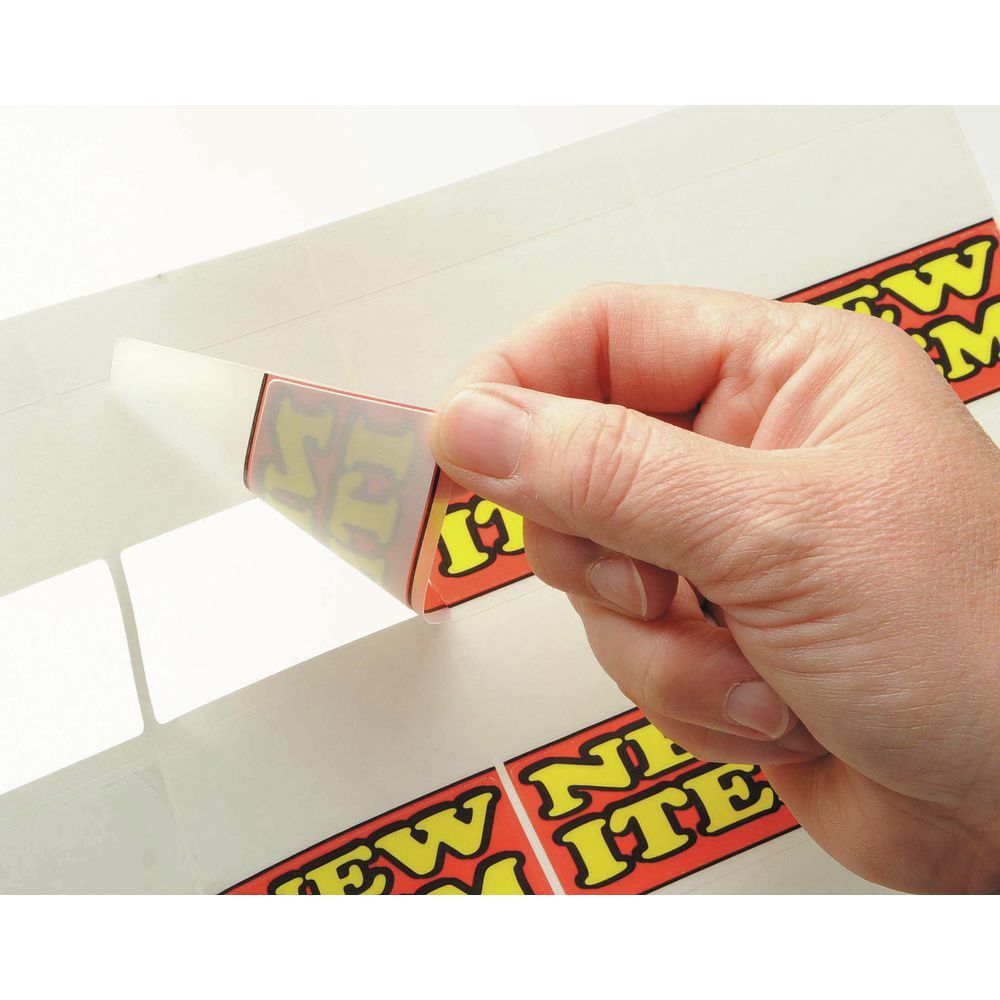 Vu-Thru Shelf Labels - New Item