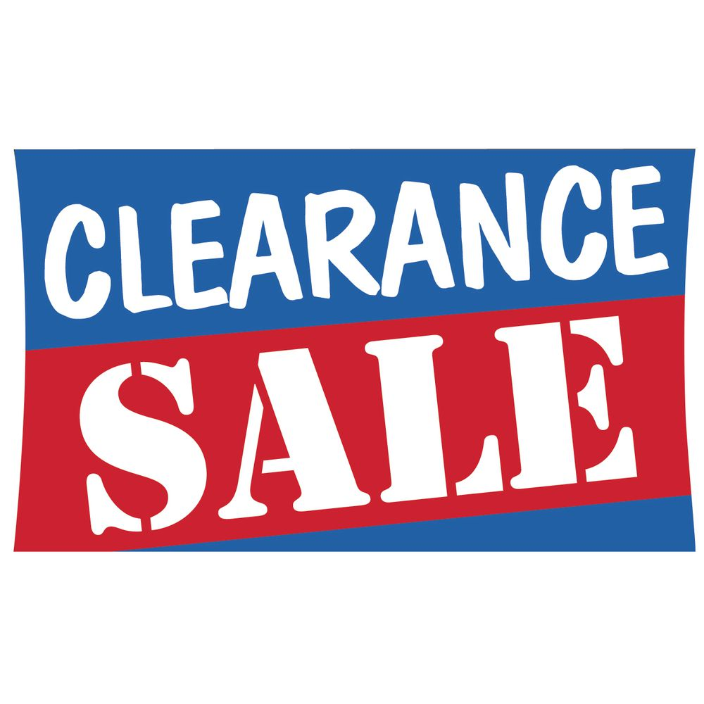"""Clearance Sale"" Outdoor Banner, 5 x 3"