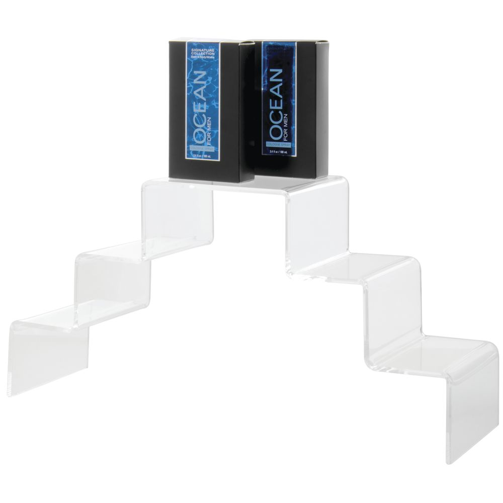 Double Stairway Acrylic Step Display