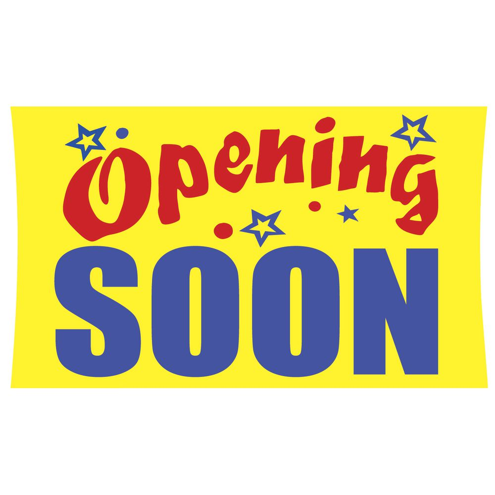 """Opening Soon"" Outdoor Banner"