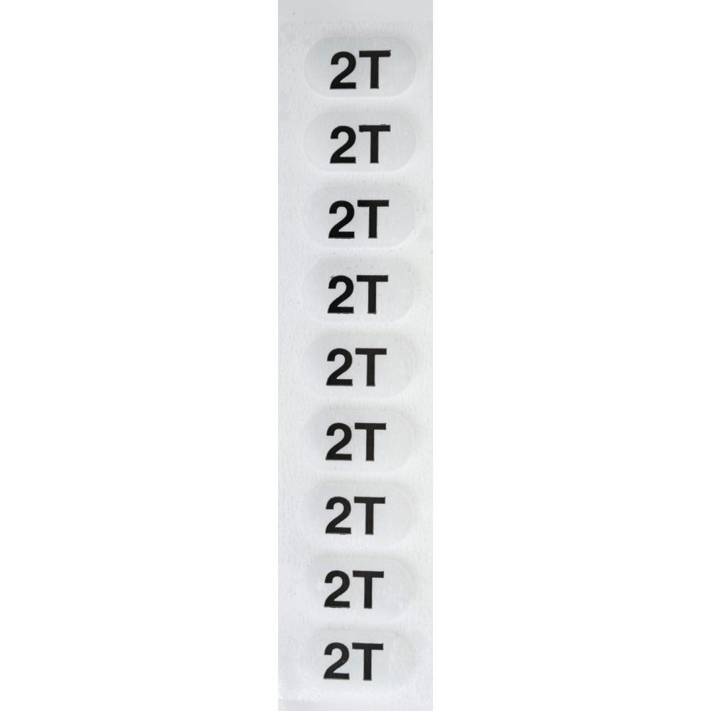 "LABEL, WRAP AROUND, 1 1/4""X5"", 2T, 250/RL"