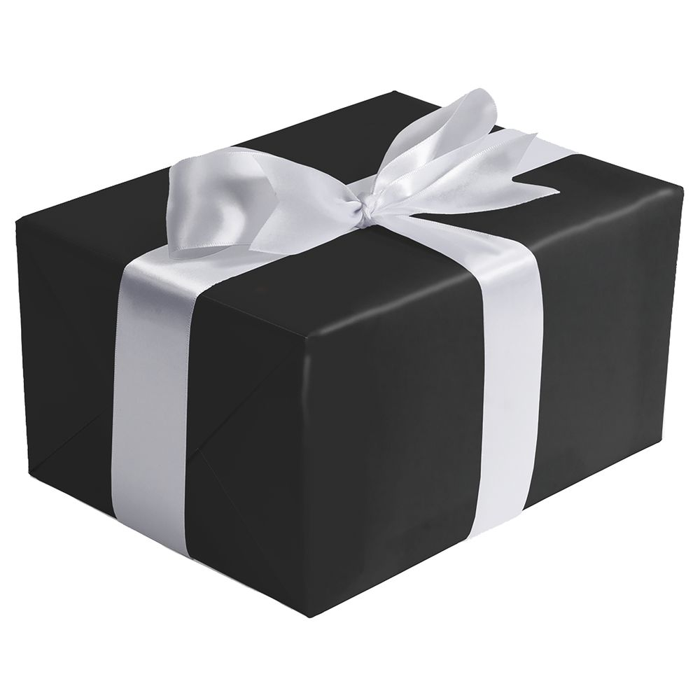 "GIFT WRAP, BLACK, MATTE, 1/4 ROLL, 30""W"