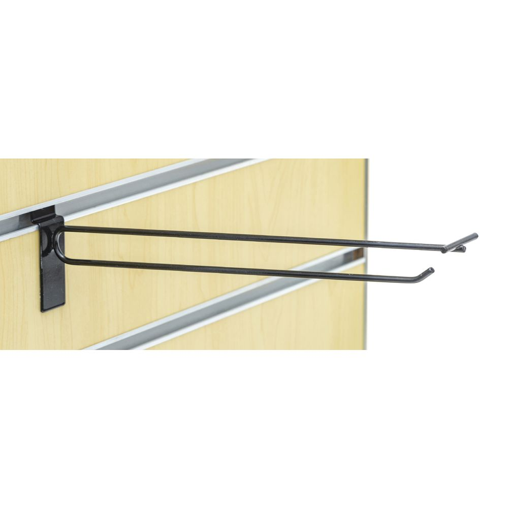 "SCANHOOK, SLATWALL, 12"", BLACK"
