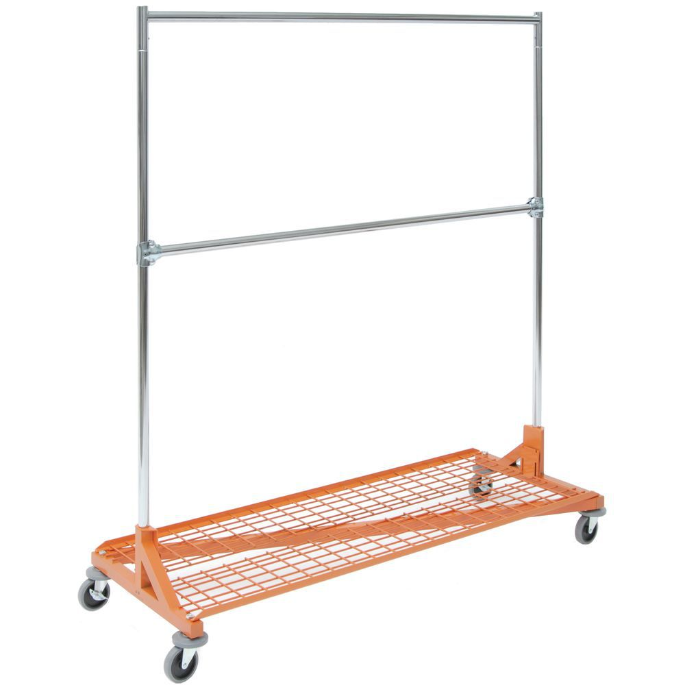 HANGRAIL, ADD-ON, W/CLAMPS, FOR Z-RACK, CHRM