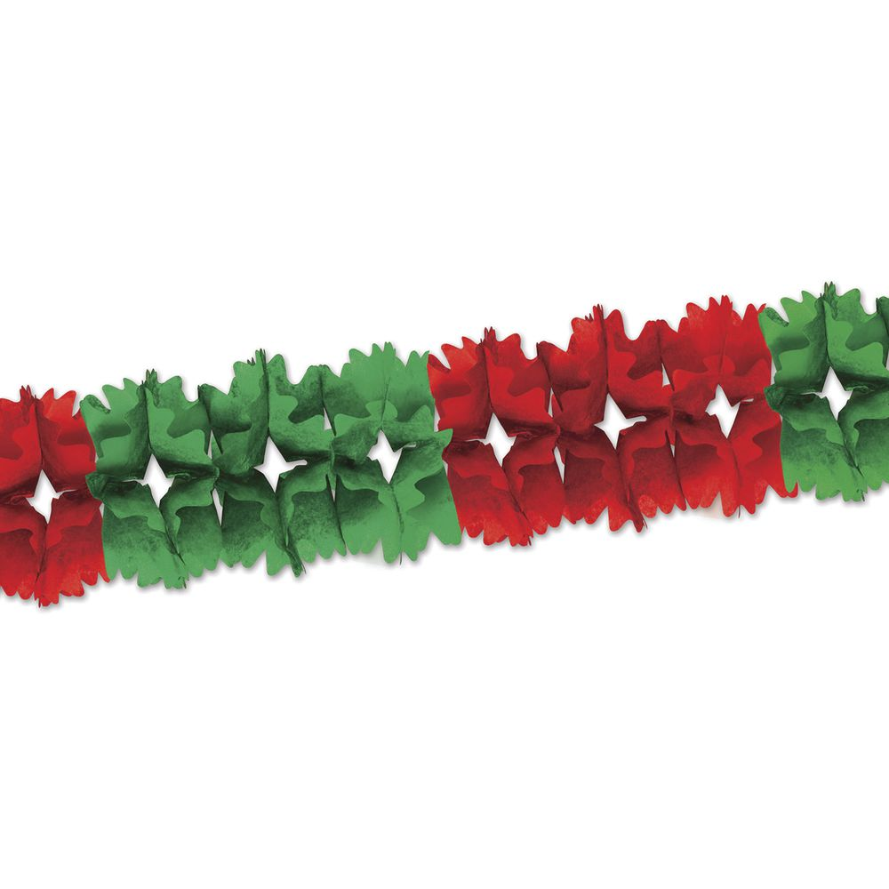 GARLAND, ARCH, RED/GREEN, 12'L