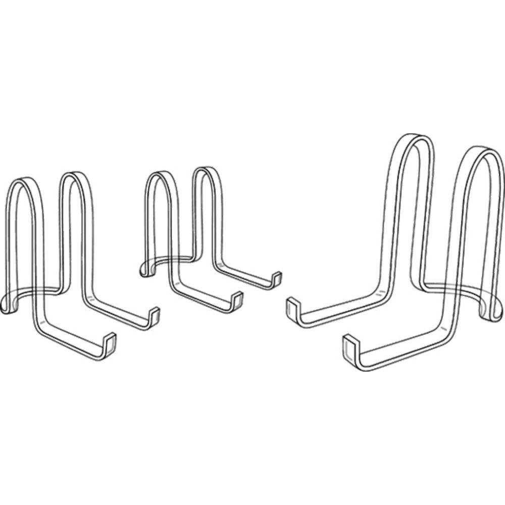 "2"" (H) Ribbon Design Dish Display Holder"