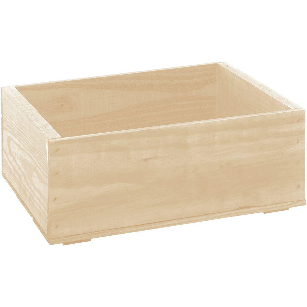 "Wooden Crate Plain Oak Small 14 3/4""L x 11 1/4""W x 5 7/8""H"