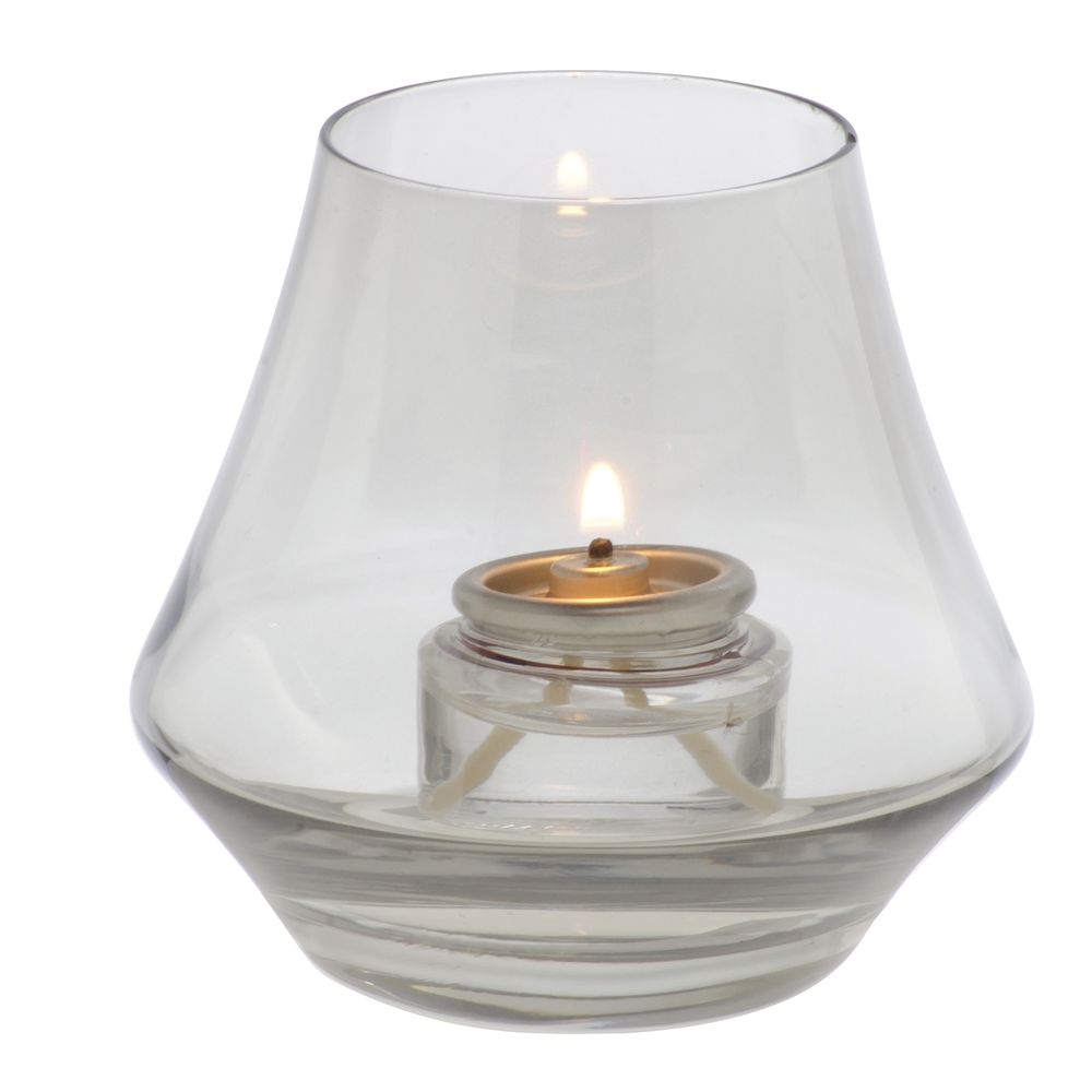 Chime™ Glass Votive Holder 2 3/4 x 3 1/2 Smoke Lustre