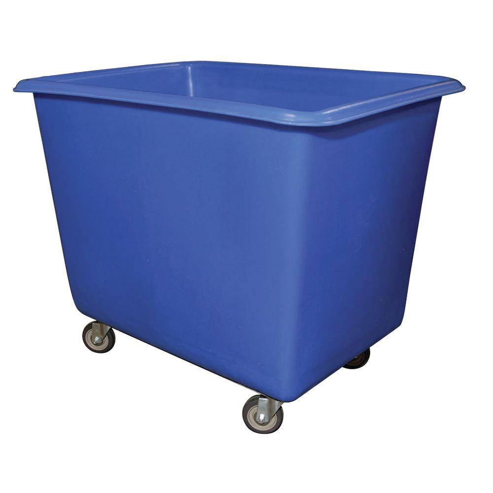 "Tub Truck Wheel Cart With Swivel Casters 10 Bushel 40"" L x 28"" W x 25 1/2"" D Blue Polyethylene"
