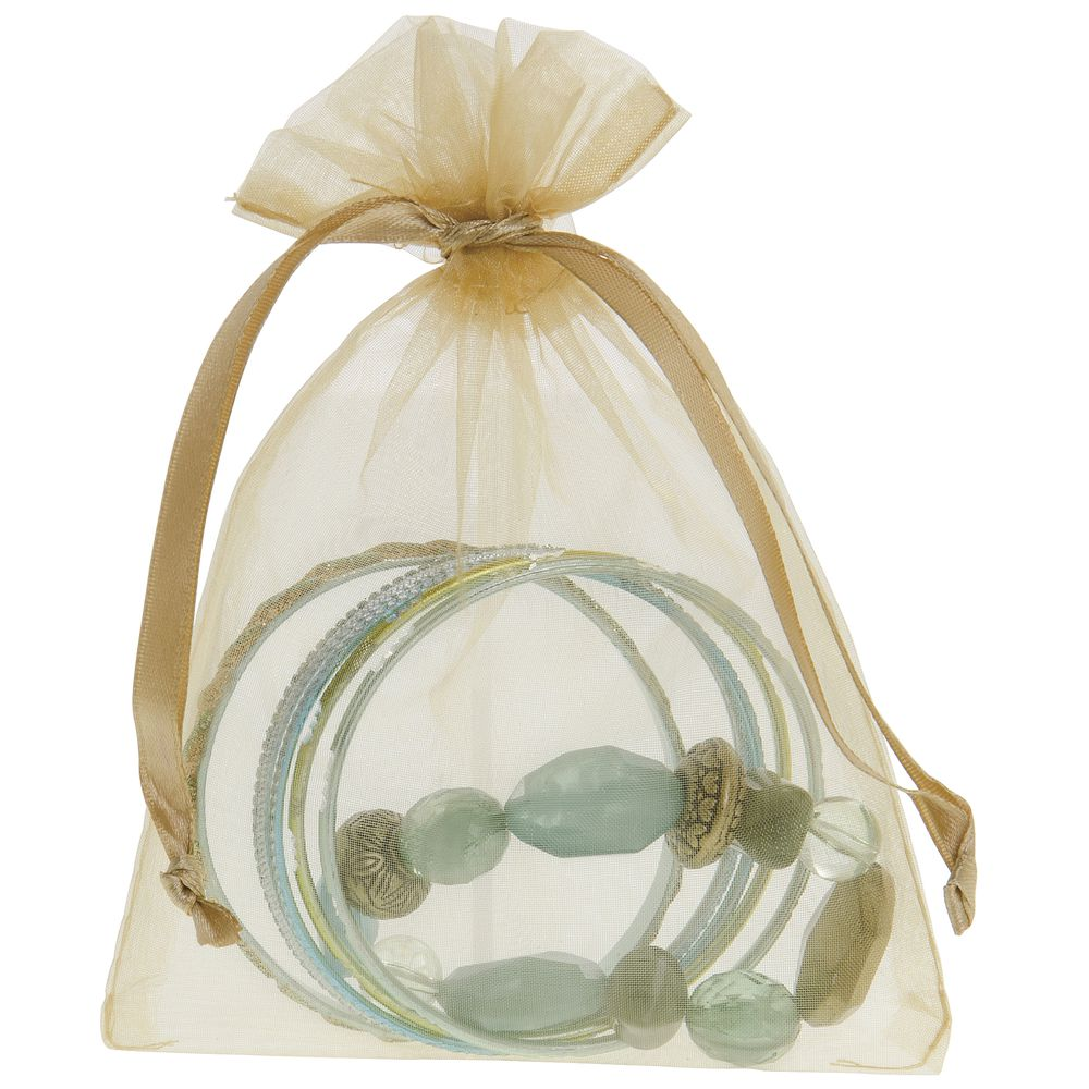 5 x 6 1/2 Gold Organza Gift Bag