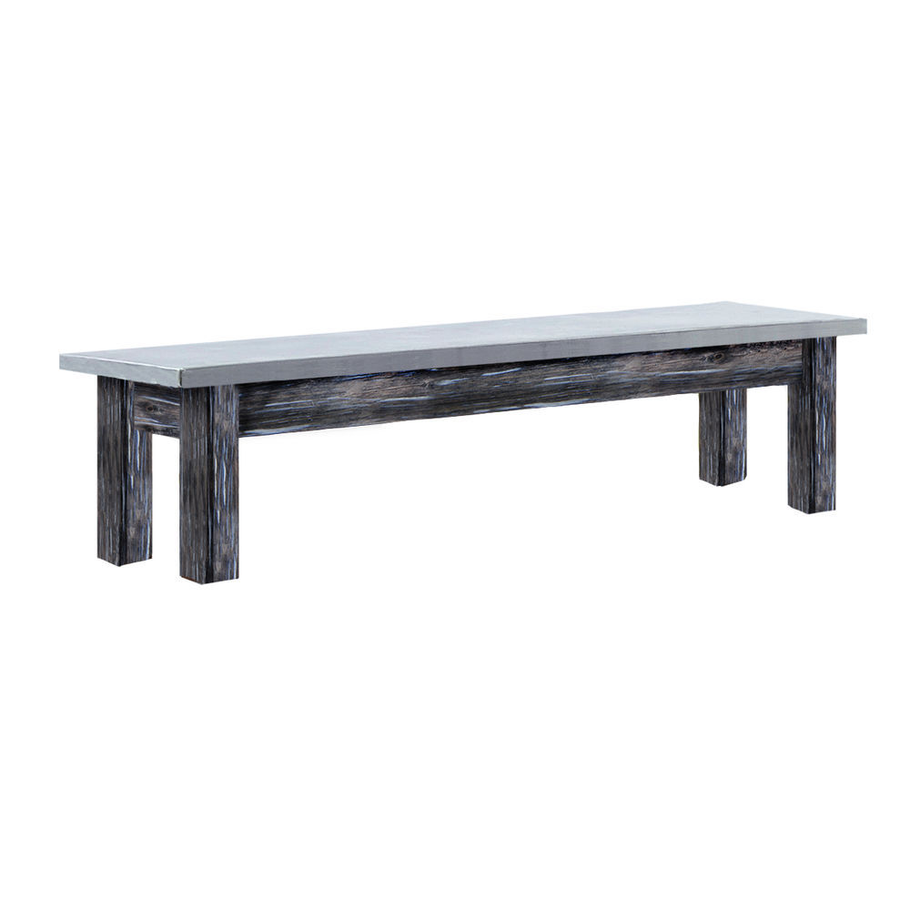 TBLE, GALV.TOP, RUSTIC GRAY, 38WX10LX10-1/2