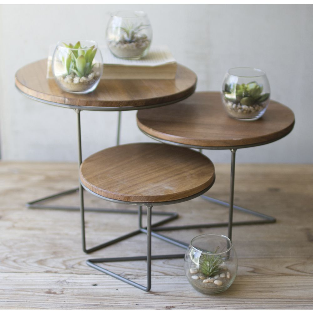 Set 3 Round Retail Nesting Tables