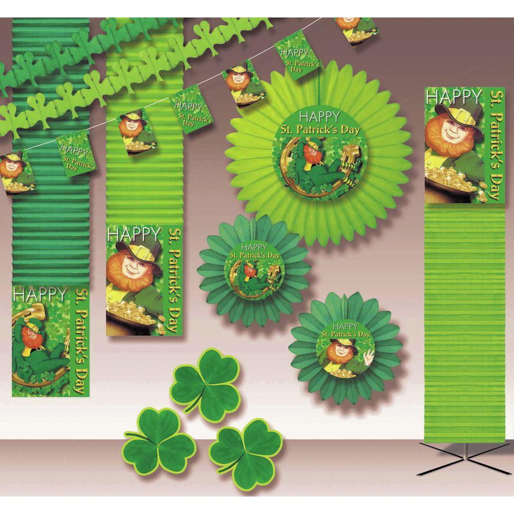 Holiday Decoration Kit Luck O' the Irish 6000  sq ft Crepe