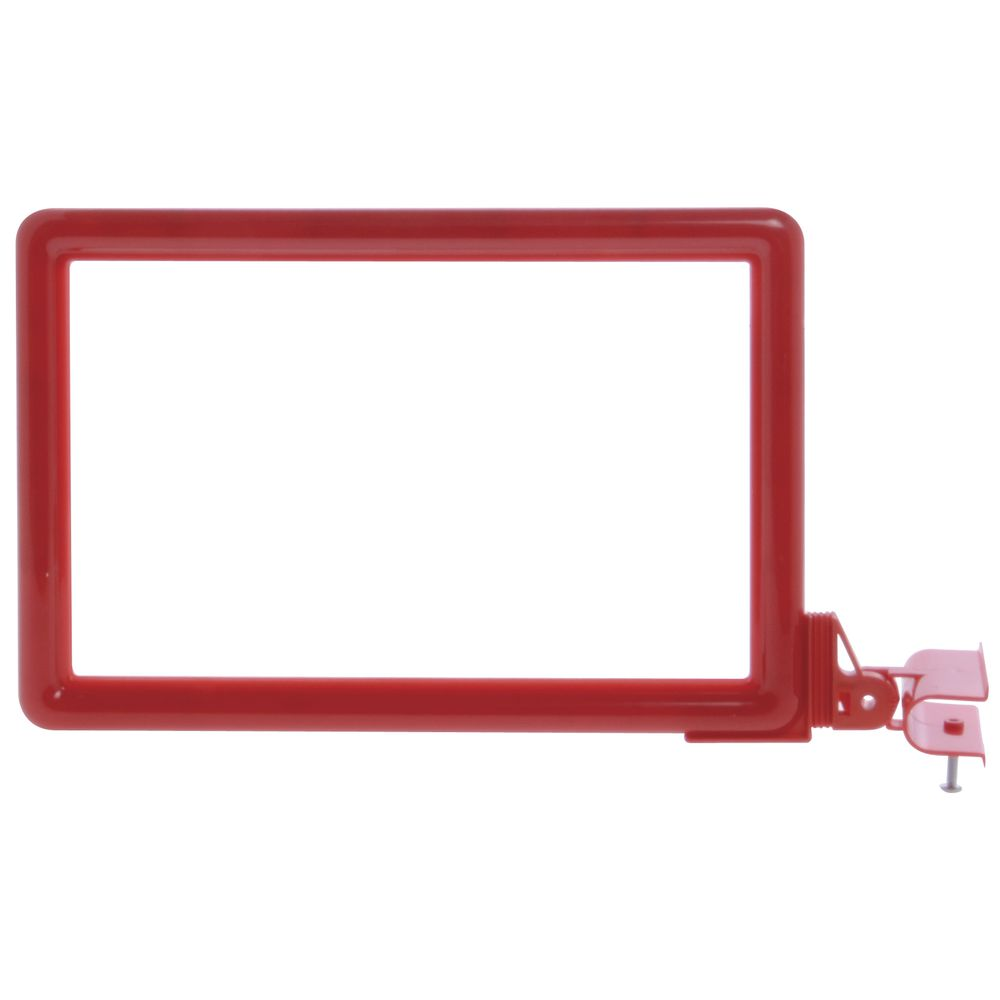 11 x 7 Clamp Sign Holder, Red