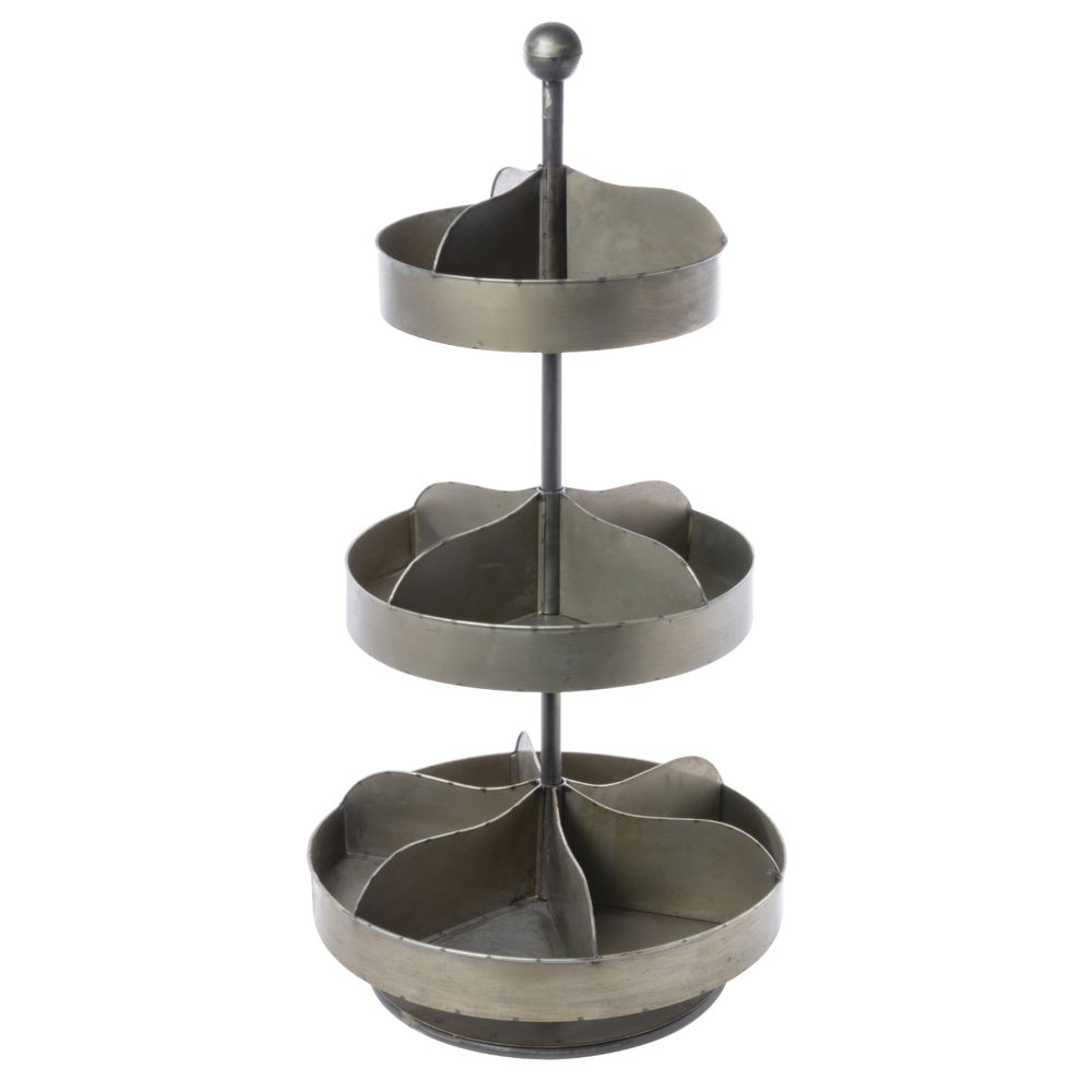 BIN, COUNTERTOP, INDUSTRIAL, ROTATING, 3TIER