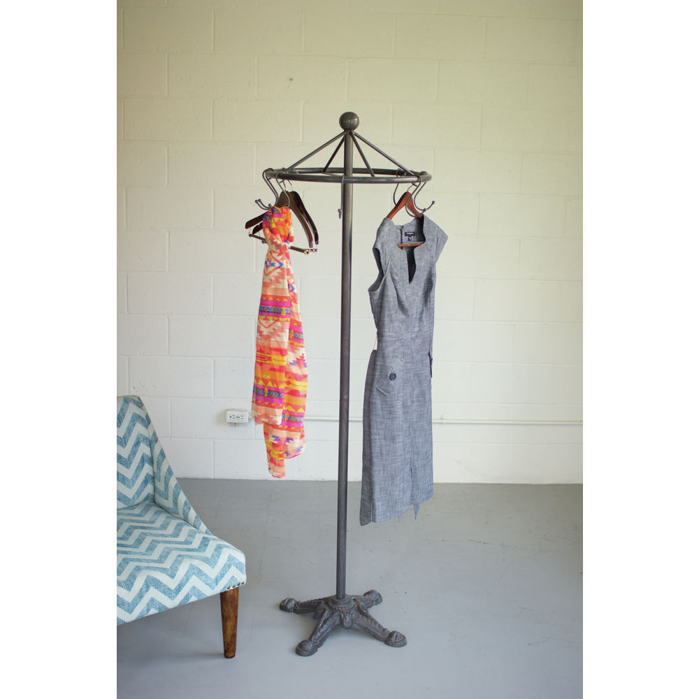 Industrial Round Clothes Rack