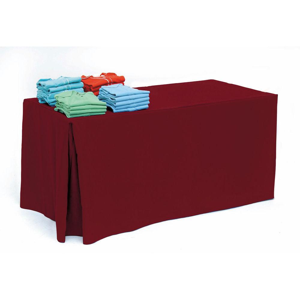 Burgundy Restaurant Tablecloths for 6ft Tables