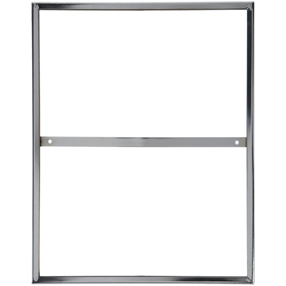 Chrome Sign Holder has a Top Insert to Fill Quickly.