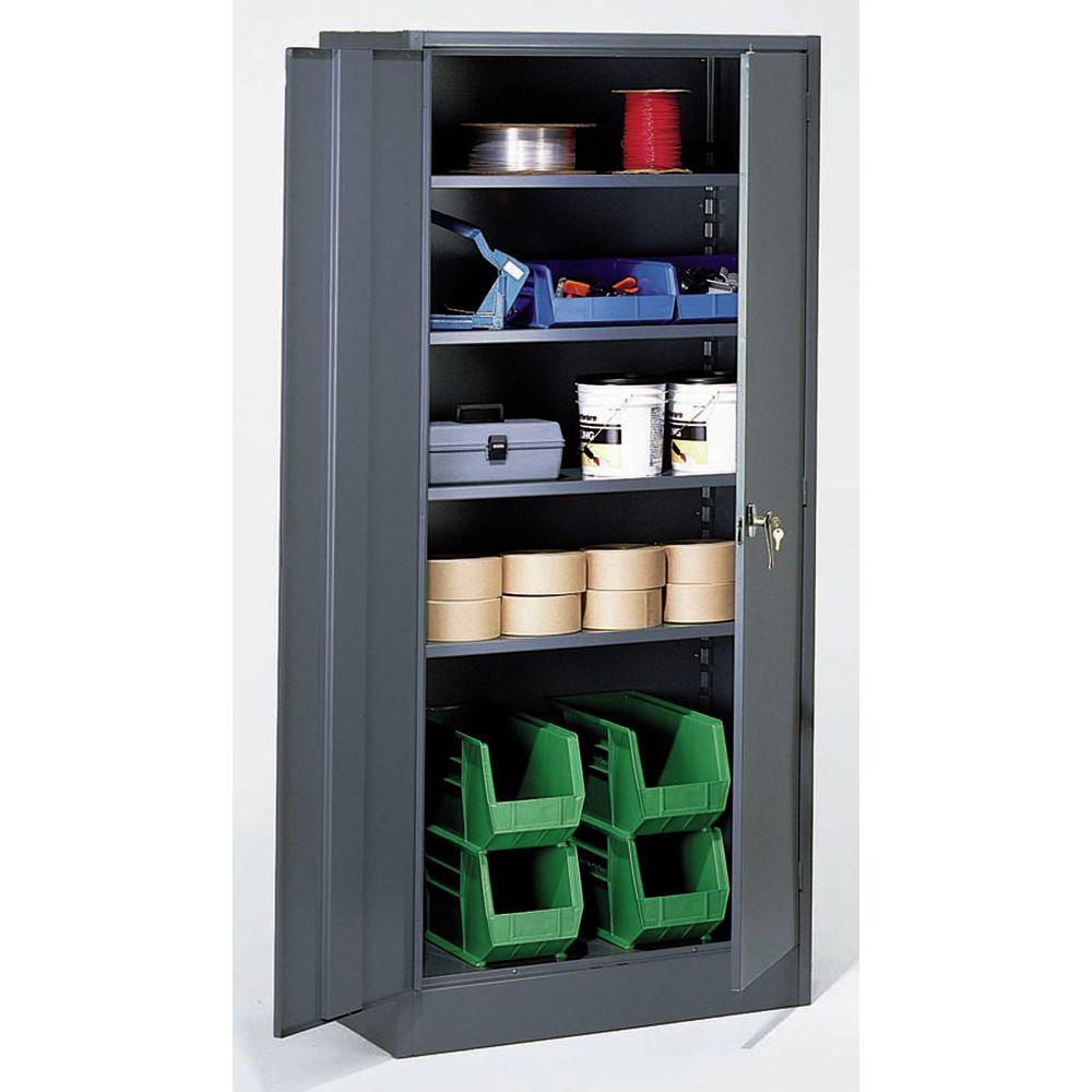 """CABINET, 36"""" GRAY, INDUSTRIAL, 24""""D X 78""""H"""