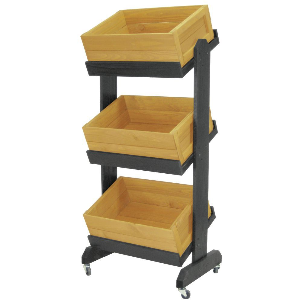 Wooden Display Crates with Multi-Angled Shelves
