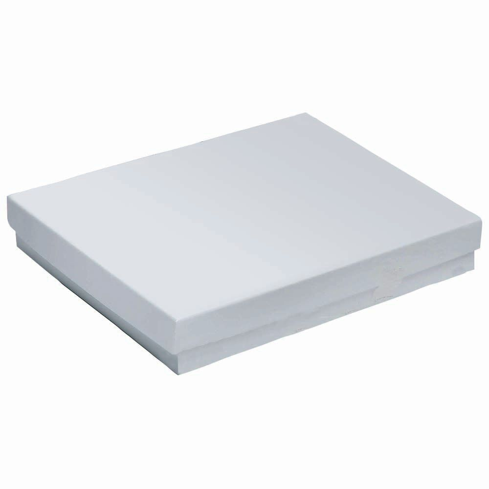 White Jewelry Gift Boxes 5 1 4 X 3 3 4 X 7 8