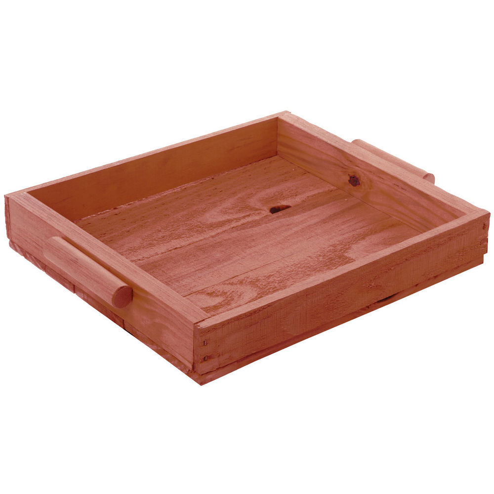TRAY, PINE, HANDLES, CHERRY, SMALL