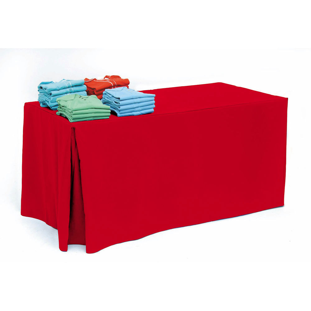 Holiday Red Table Cloth for 6ft Tables