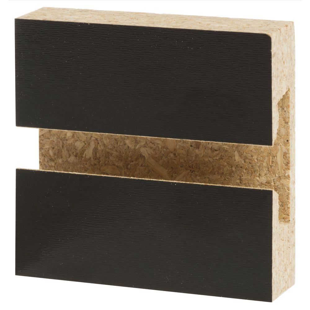 4 X 8 Black Slatwall Panel
