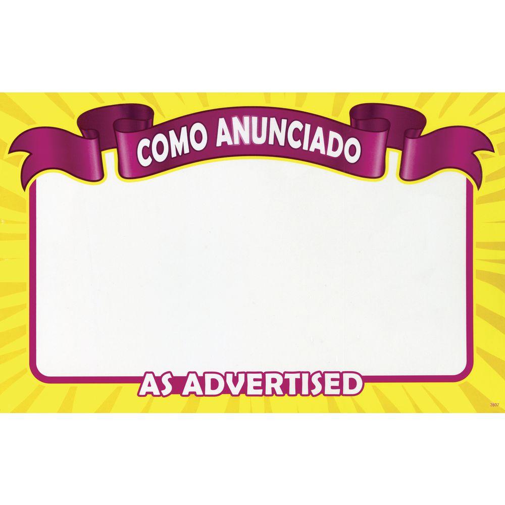 CARD, WRITE-ON, RIBBON, COMO ANUNCIADO