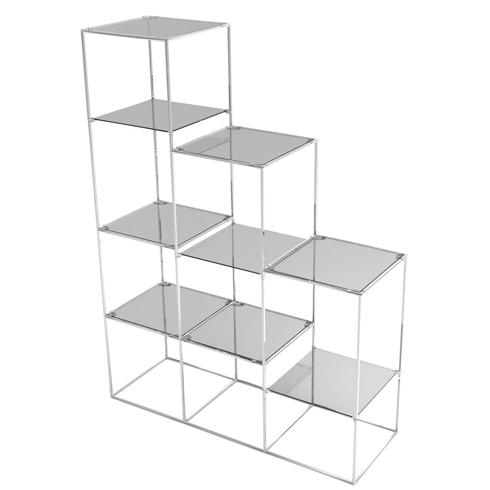 |Chrome Glass Shelf