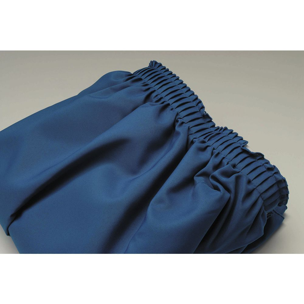 """Royal Blue Table Skirt Shirred Polyester 29""""H x 17 1/2""""L"""