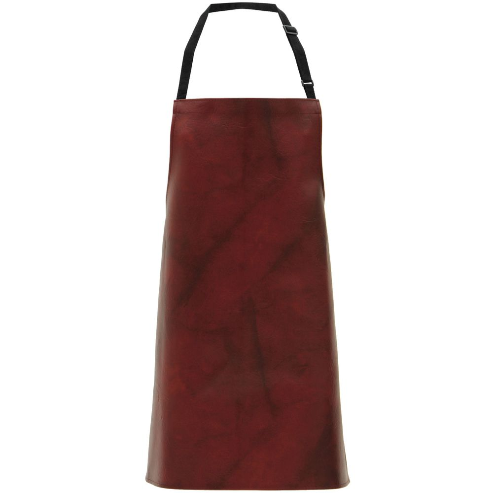 APRON, BURGUNDY, LEATHER LOOK