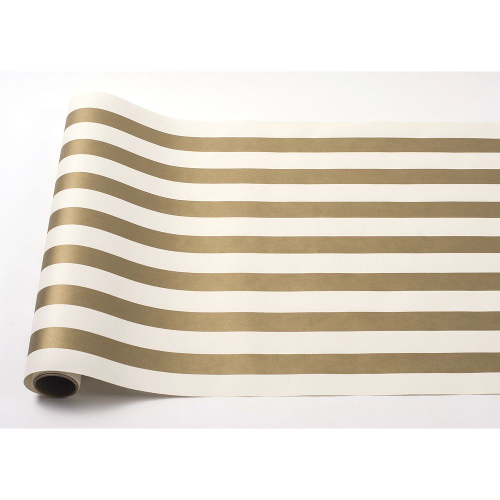 RUNNER, PAPER, STRIPE, GOLD/WH, 25'L
