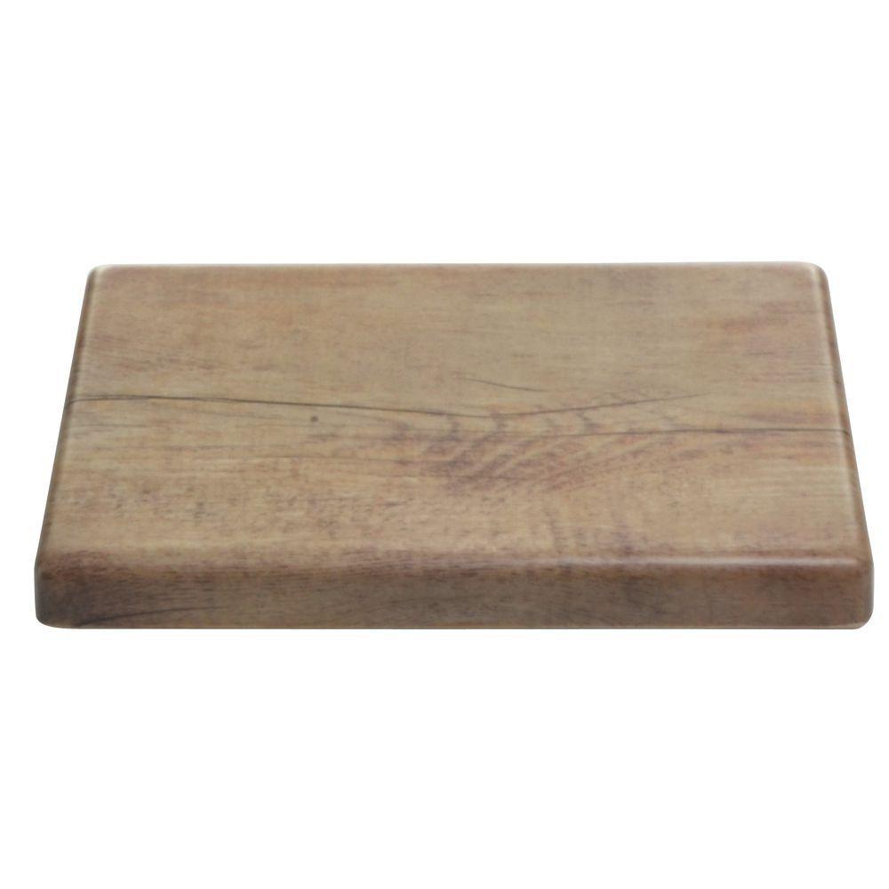 "Elite Faux Wood Riser 10""L x 6""W x 1""H Driftwood Melamine"