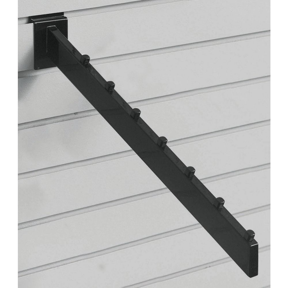 Black 7-Cube Slatwall Waterfall Hooks