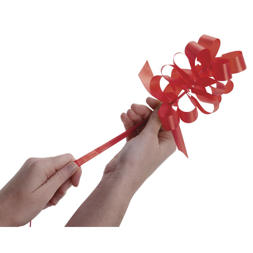 4 (W) Pull Bows, Red