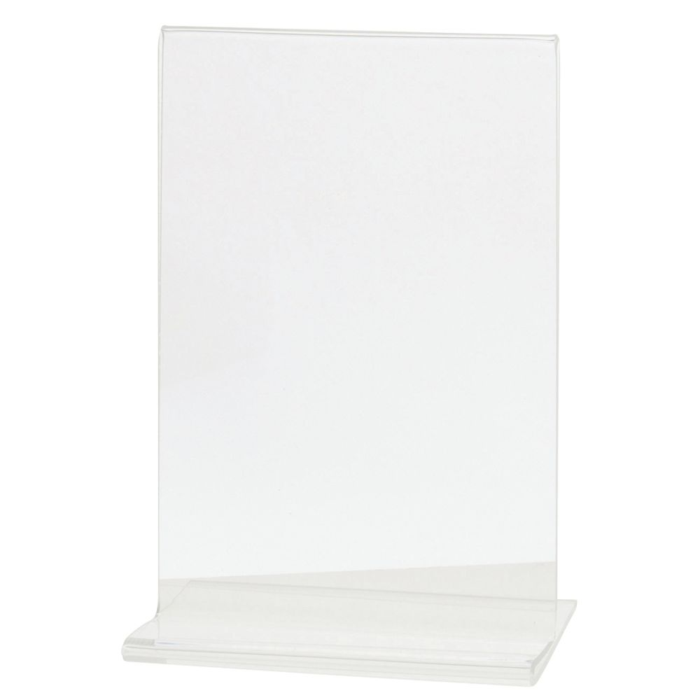 """Vertical Easel Style Clear Plastic Sign Holder 6""""H x 4""""L"""