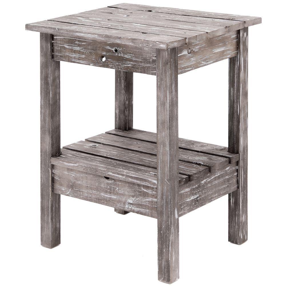 "Small Rustic Table Grey 22""L x 18-1/4""W x 27-1/4""H"
