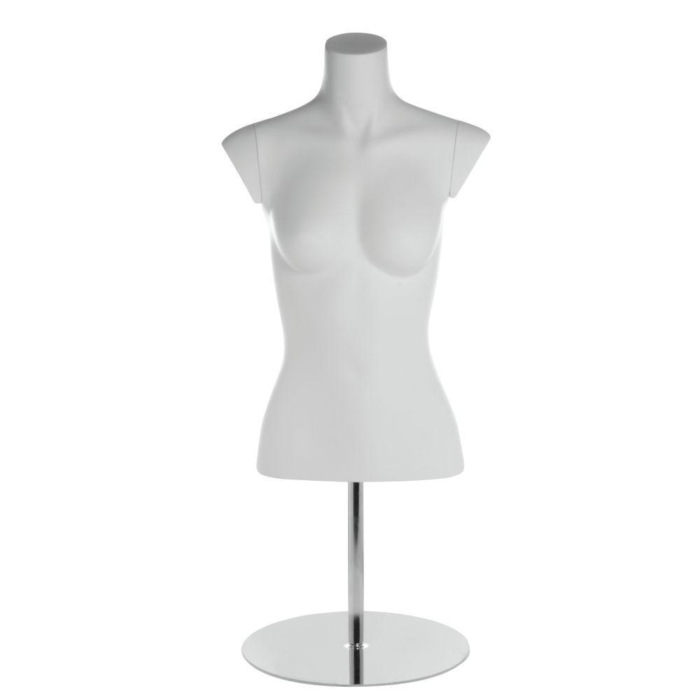 White Fiberglass Female Torso Mannequin