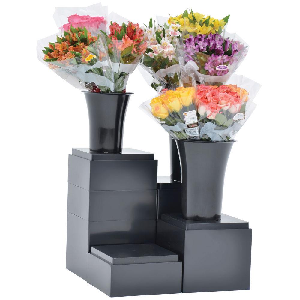 """5 1/2"""" (H) Floral Cube Display Black"""