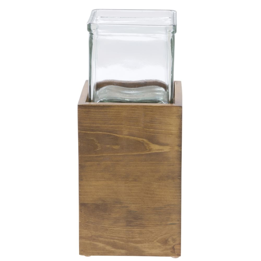 Cal Mil Condiment Organizer Madera Collection 4 1/2 Square x 10 1/2H