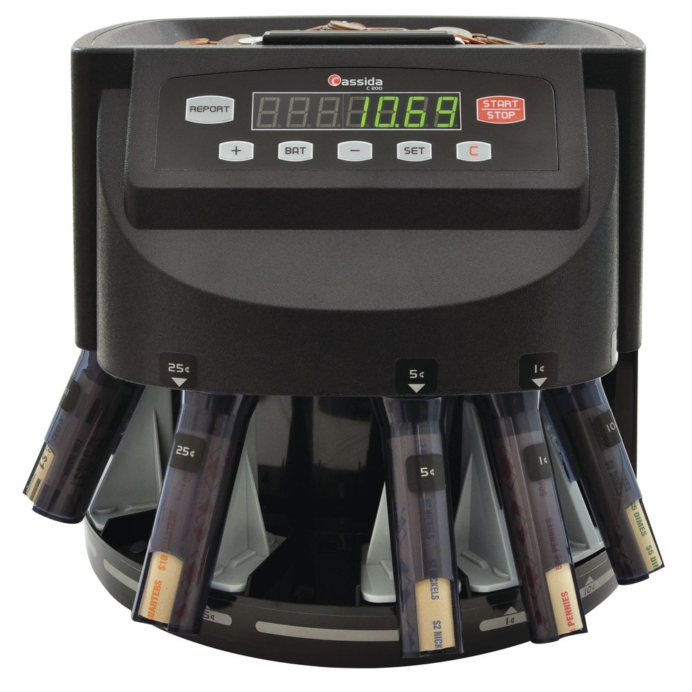 Cassida® Coin Counter Machine, Canadian Currency