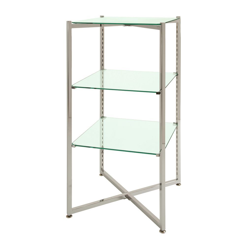 3 Shelf Glass Etageres