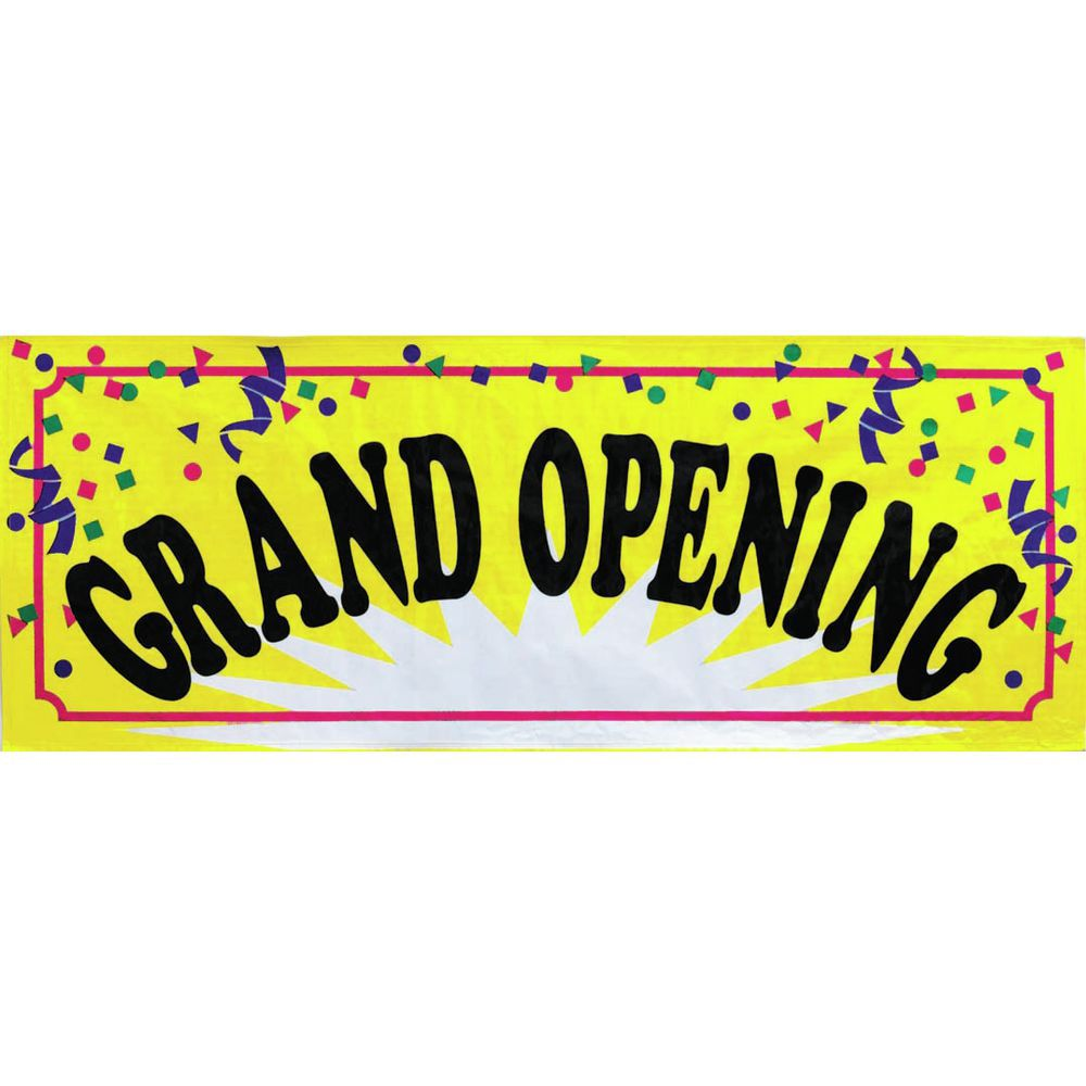 8 x 3 (L x H) Grand Opening Banner