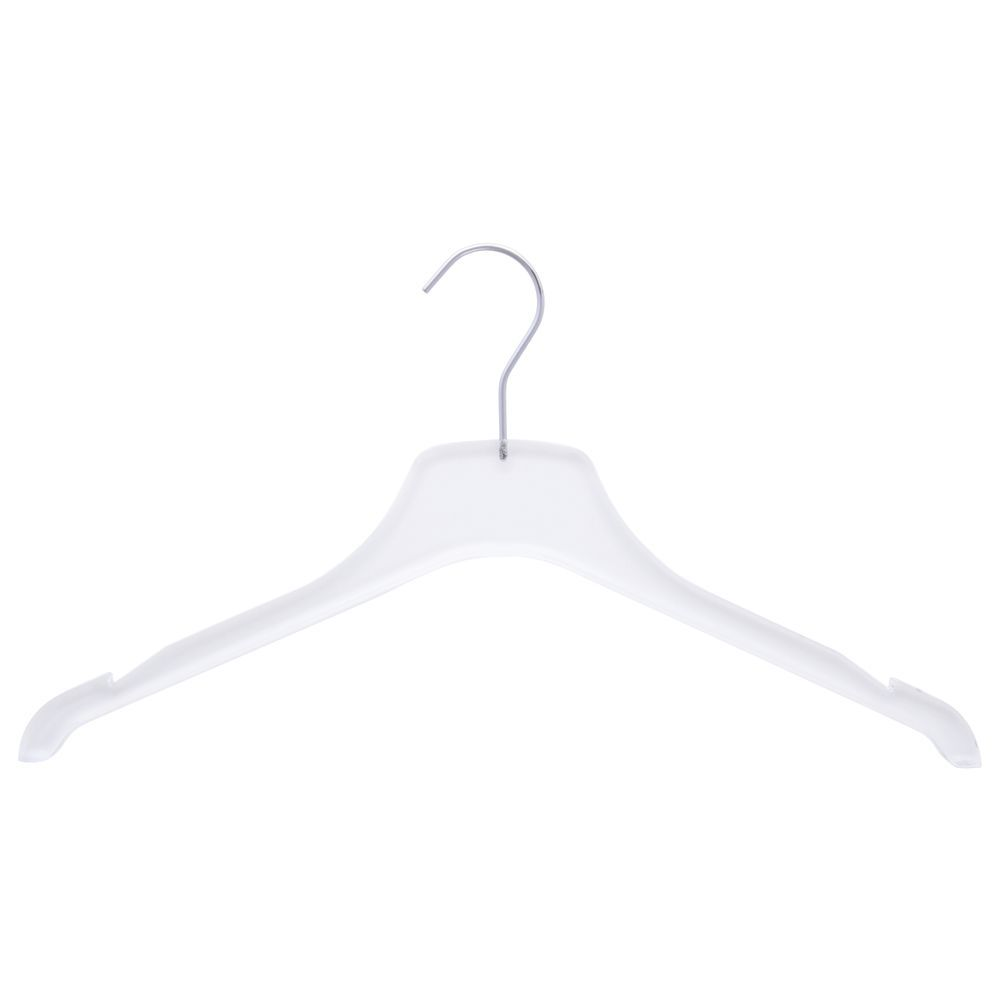 Clear Plastic Clothes Hangers 17""